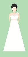 Brautkleid im Empire-Stil