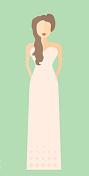 schmal geschnittenes Brautkleid