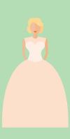 Brautkleid im Prinzessinnen-Stil