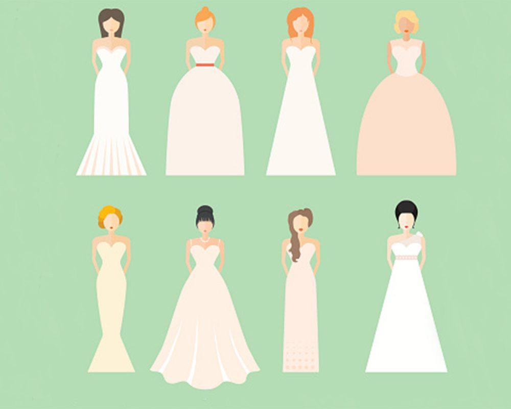 Brautkleider Typologie