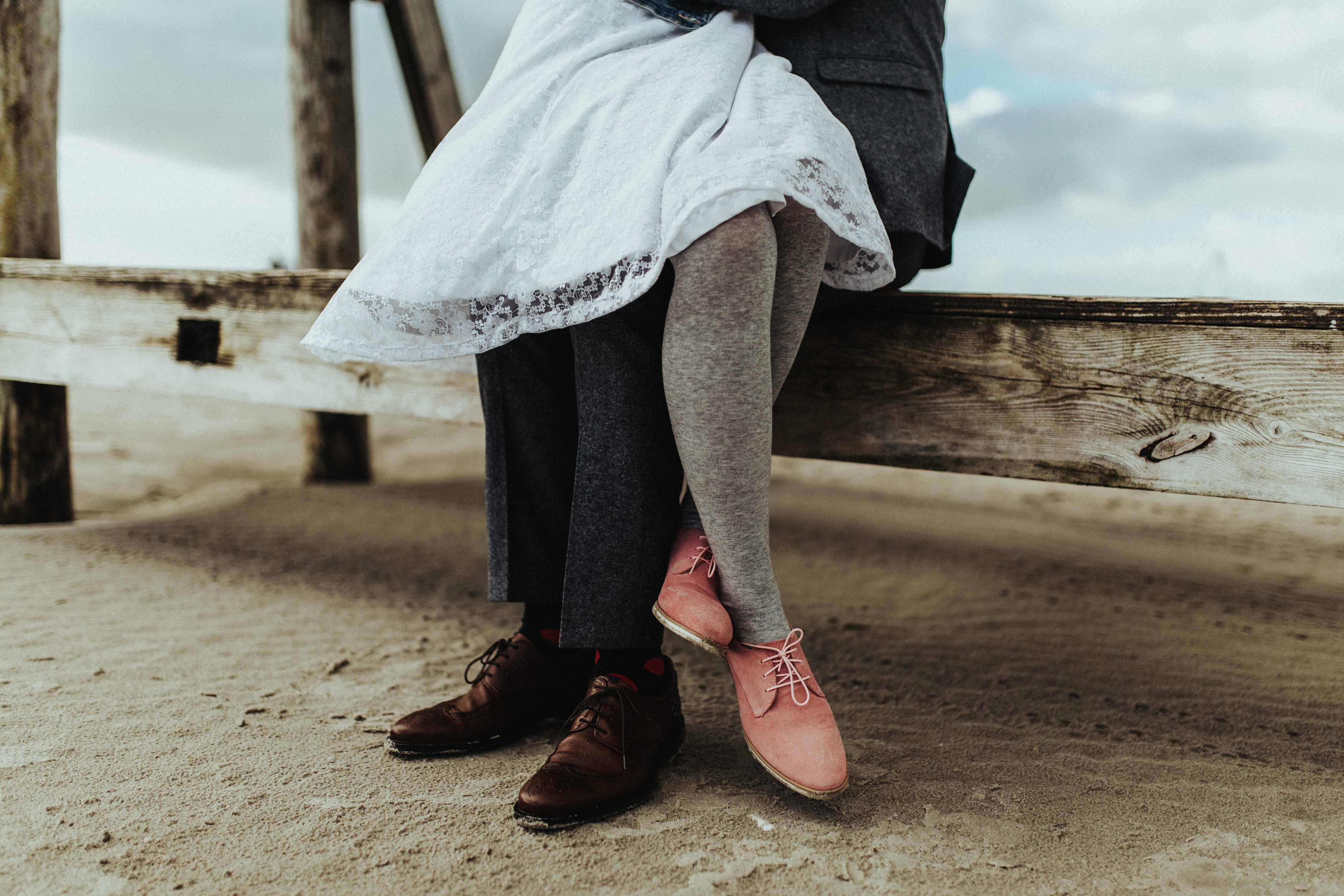 Das Brautpaar am Strand von St. Peter-Ording