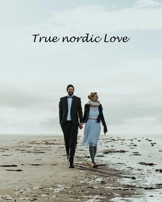 Das Brautpaar am Strand von St. Peter Ording