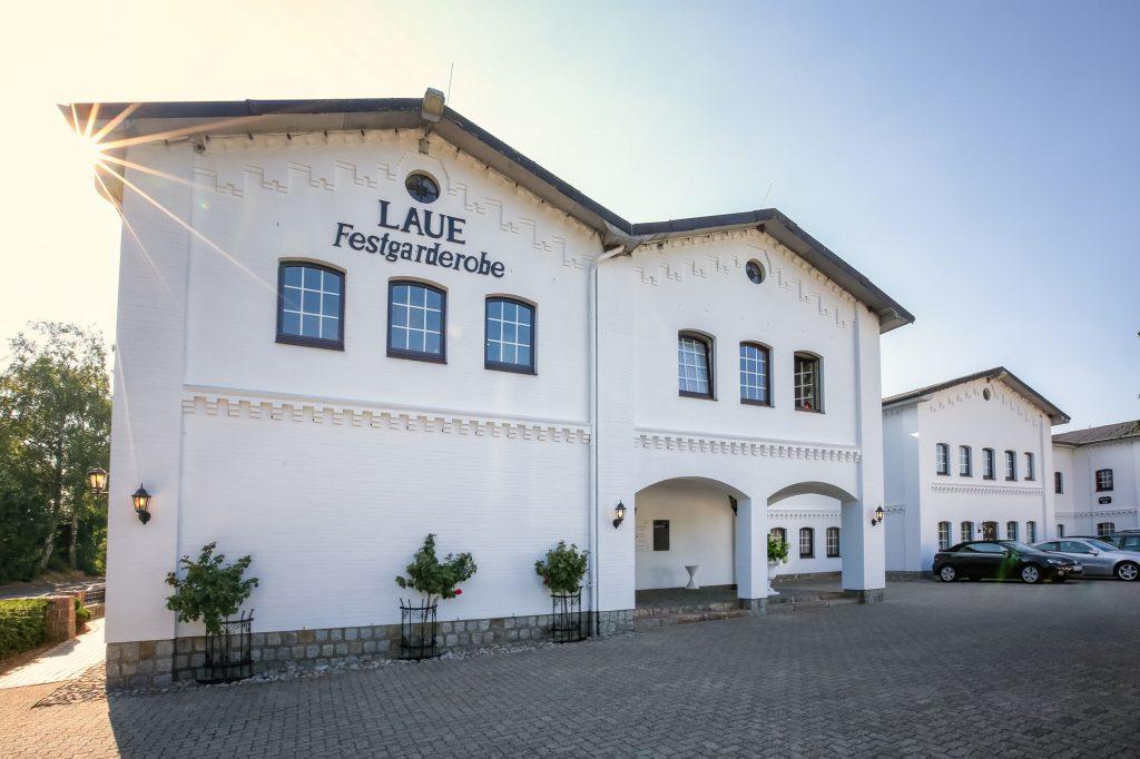 Das Gebäude von Laue Festgarderobe