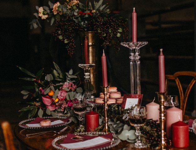 Beerentöne bei Hochzeitsdeko