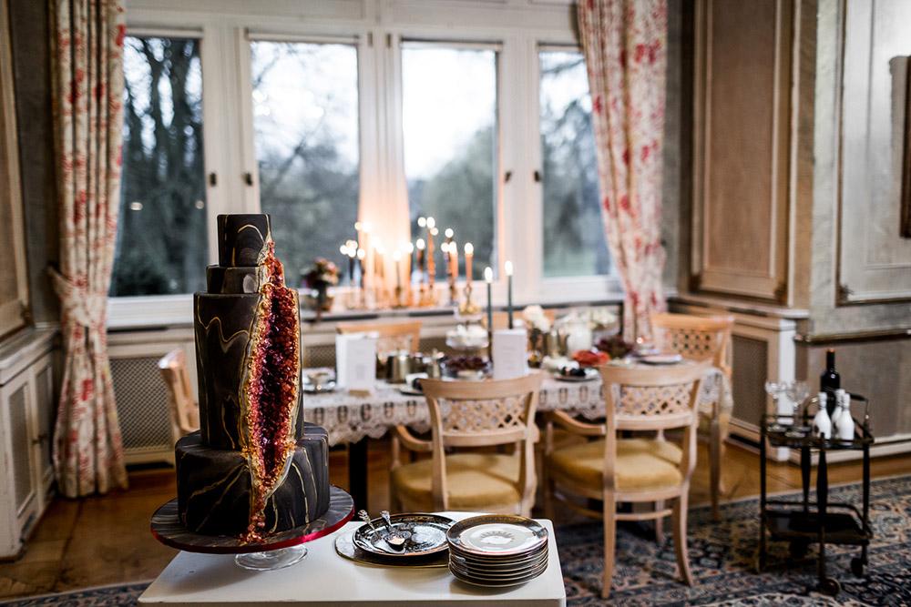 20er-jahre Hochzeit Tischdekoration