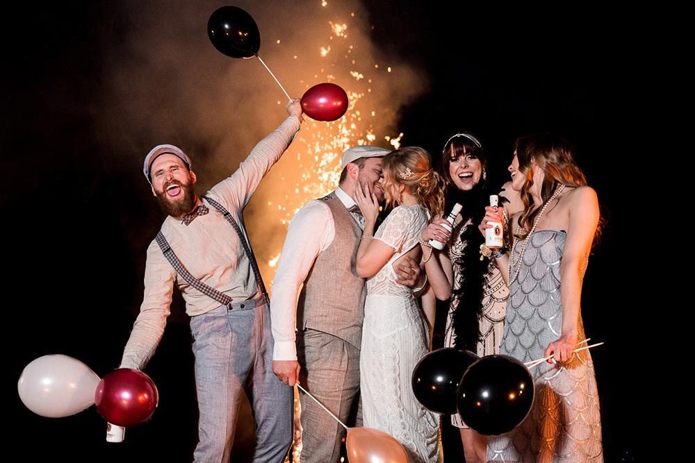 20er-Jahre-Hochzeitsparty